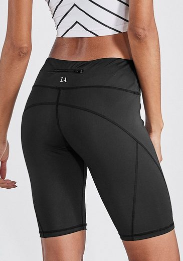 LASCANA ACTIVE Radlerhose »Basic Bottoms« mit kleiner Bundtasche hinten
