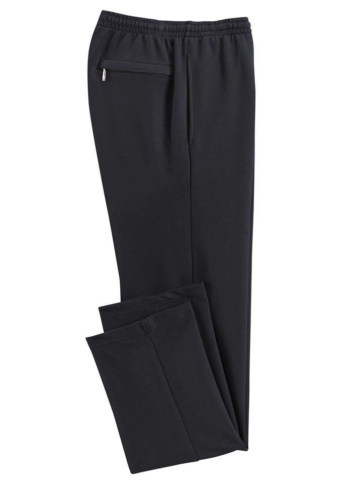 Hajo Freizeithose in stay fresh-Qualität in schwarz