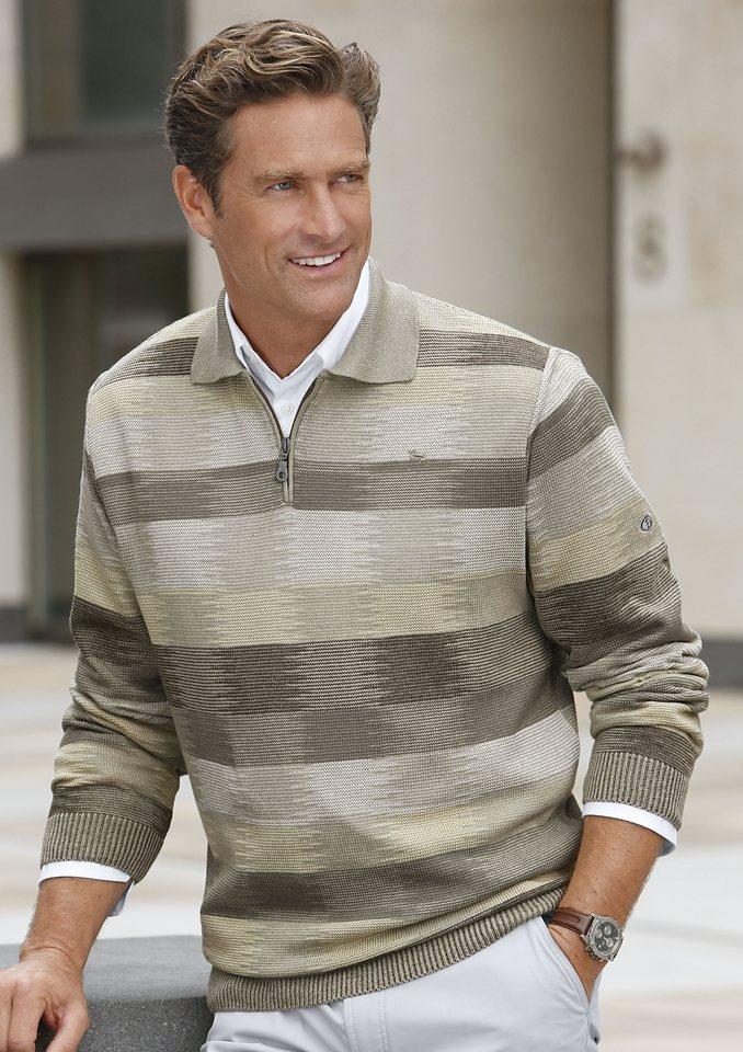 Pullover, Marc René in schilf-khaki