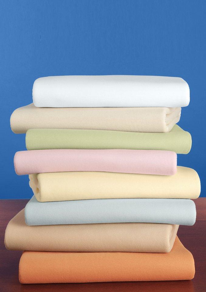 Haustuch-Betttücher in weiß