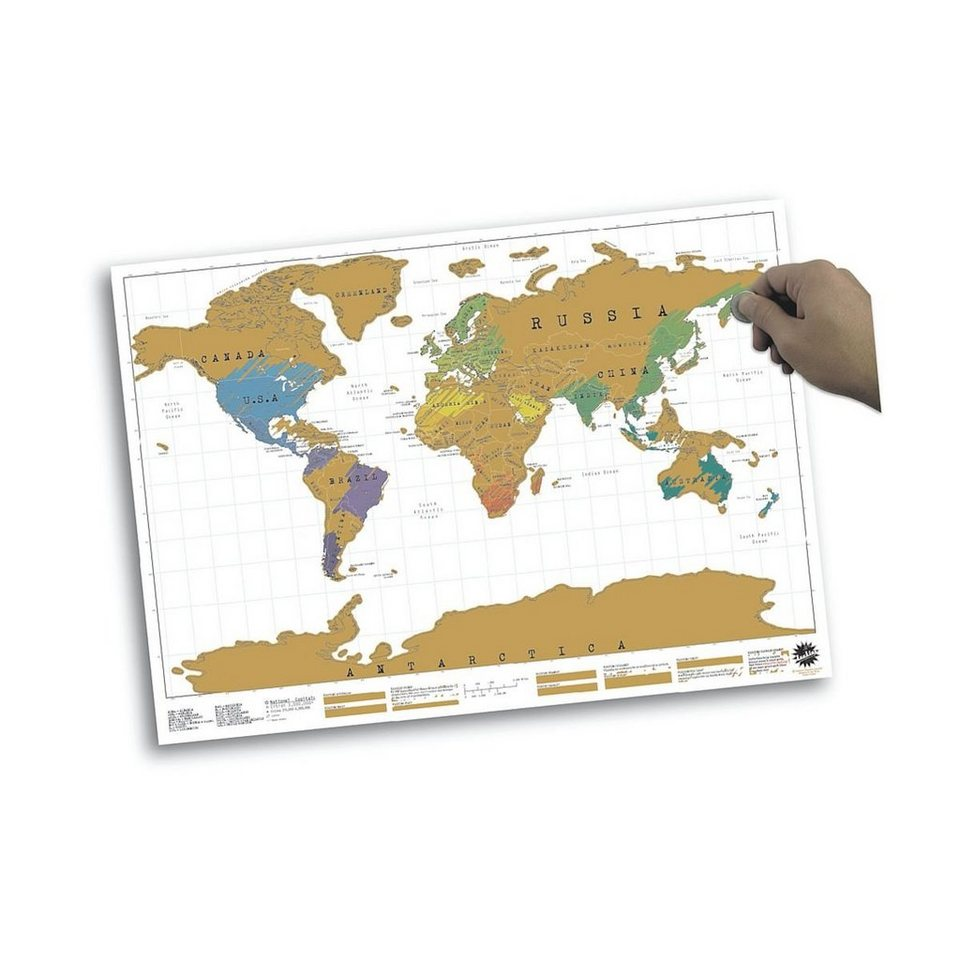 Weltkarte Zum Freirubbeln Ausfuhrung Bereiste Lander Konnen