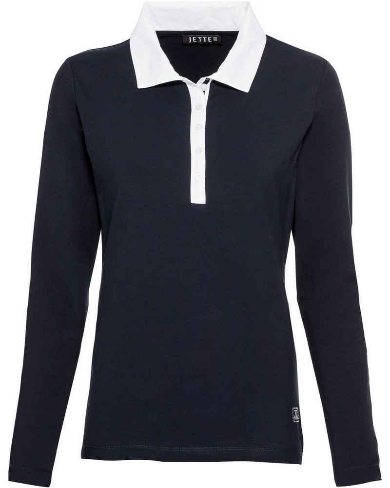 JETTE Langarmshirt »Shirt mit Webkragen«