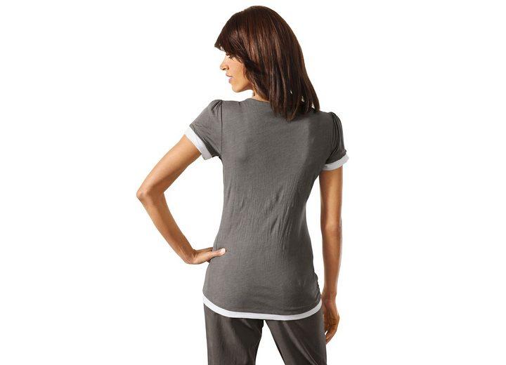 LINEA TESINI by Heine Two-in-one-Shirt mit Rüsche Auslassstellen Günstiger Preis mbrJrg8YL