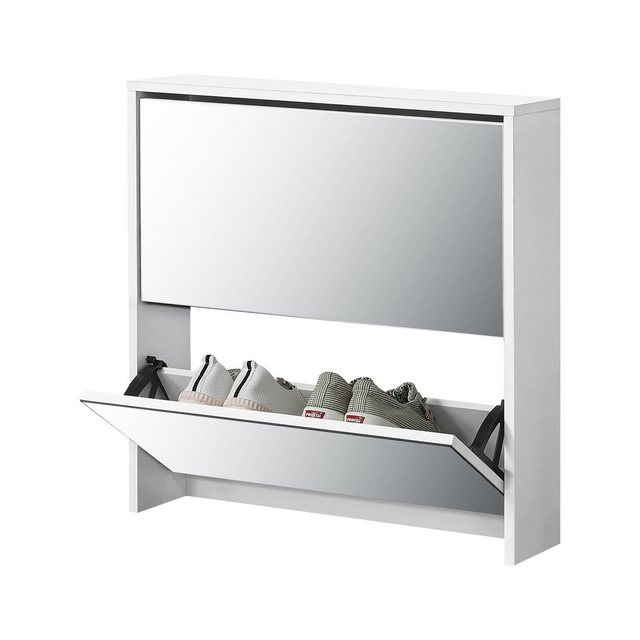 Schuhschränke und Kommoden - en.casa Schuhkipper (1 St), »Lund« Schuhschrank verspiegelt in diversen Größen und Farben  - Onlineshop OTTO
