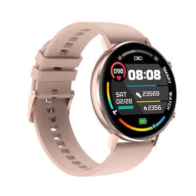 Levowatch F-Series Smartwatch (3,3 cm/1,3 Zoll), HD-Display, magnetisches Ladekabel, Musiksteuerung, Wrist-Control, Echtzeit-Herzfrequenzmesser, 2x Armbänder