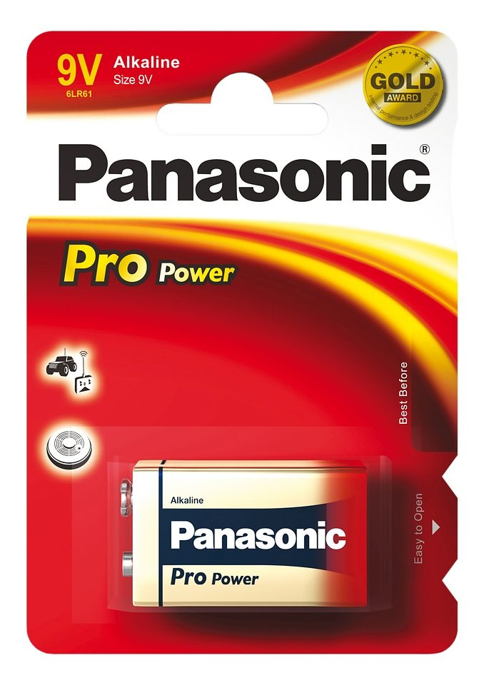 Panasonic, Batterien »ProPower, E-Block / 9V / 6LR61« (1 Stck.)