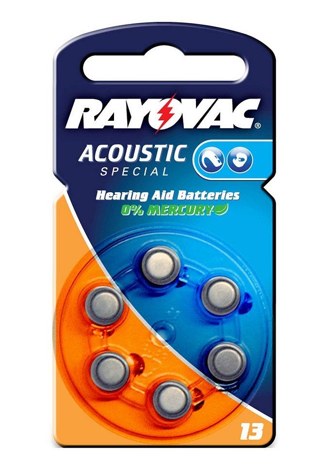 Batterien für Hörgeräte, Rayovac, »ZA13« (6 Stck.)