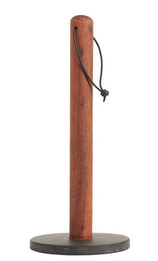 Ib Laursen Küchenrollenhalter »Ib Laursen - Küchenrollenhalter Holz Stein (1791-00) Papierrollenhalter stehend«
