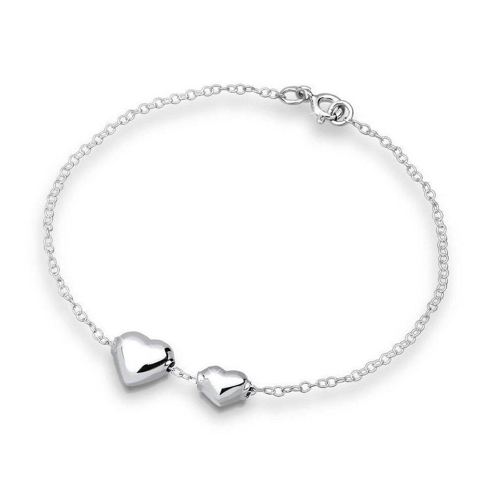 Elli Armband »Herz Silber« in Silber