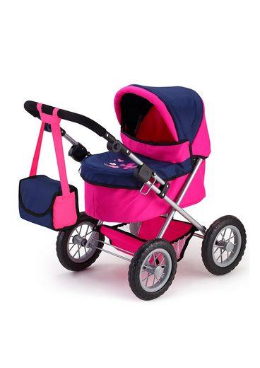 Bayer Puppenwagen »Trendy, pink/blau«, inkl. Wickeltasche