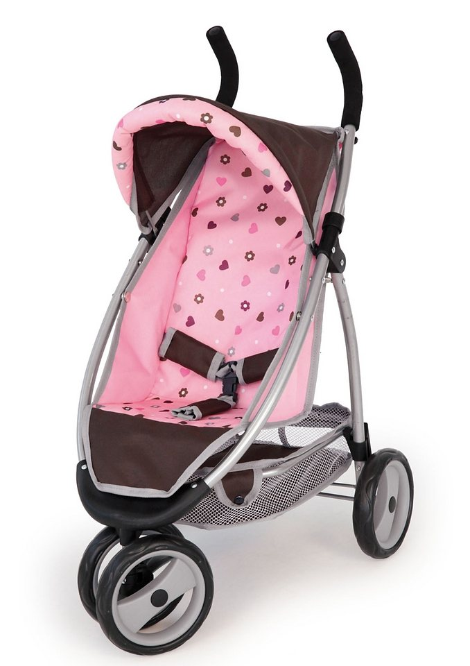 puppenwagen bayer design jogger sport braun pink online kaufen otto. Black Bedroom Furniture Sets. Home Design Ideas