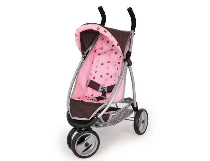 Puppenwagen, Bayer Design, »Jogger Sport«, braun/pink