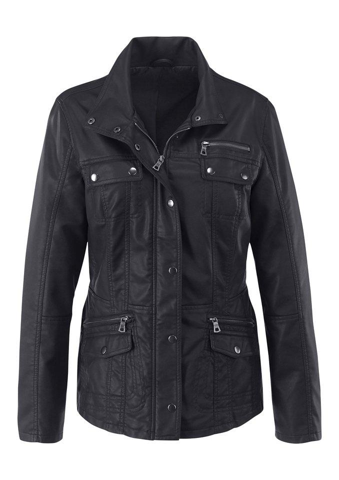 Classic Inspirationen Jacke mit feinen Farbschattierungen in schwarz
