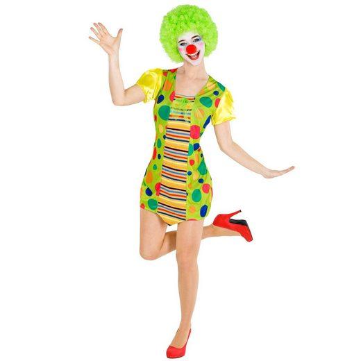 tectake Clown-Kostüm »Frauenkostüm Clown Jekaterina«