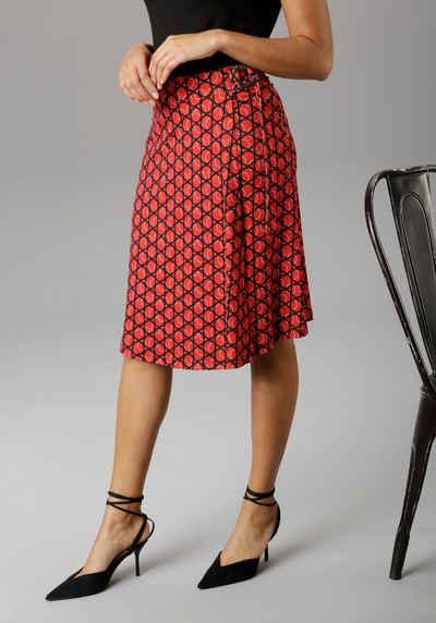 Aniston SELECTED Wickelrock mit modischer Schnalle