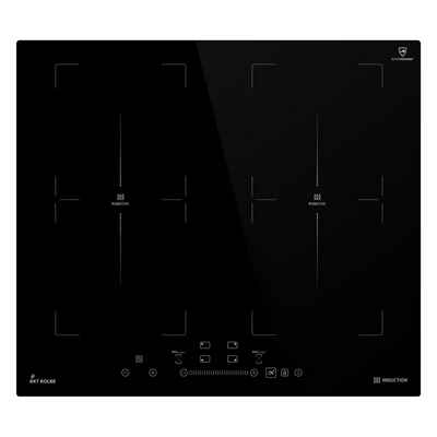 KKT KOLBE Induktions-Kochfeld IND5904FZ, 59cm / Autark / 7kW / 9 Stufen / 4 Zonen / 2 Flex-Zonen / Rahmenlos / TouchSelect Sensortasten / Booster / LED-Anzeige / BBQ-Funktion