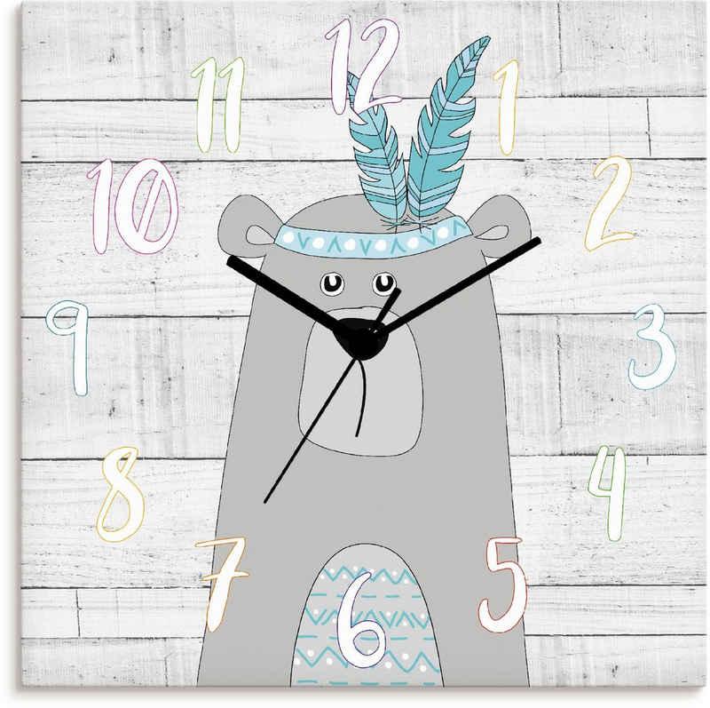 Artland Wanduhr »Bär« (lautlos, ohne Tickgeräusche, nicht tickend, geräuschlos - wählbar: Funkuhr o. Quarzuhr, moderne Uhr für Wohnzimmer, Küche etc. - Stil: modern)