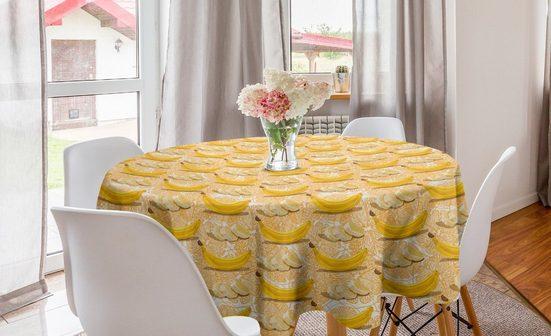 Abakuhaus Tischdecke »Kreis Tischdecke Abdeckung für Esszimmer Küche Dekoration«, Früchte Banane und Orange Themed