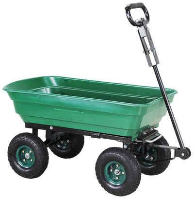 miweba Bollerwagen »Dumper«, Kippwagen Handwagen - Kippfunktion - Lenkachse - Luftreifen - 300 Kg Traglast