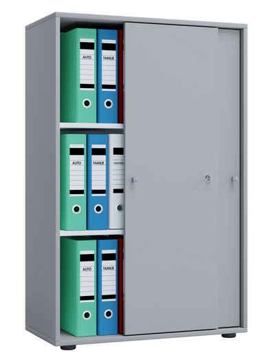 VCM Aktenschrank »Holz Büroschrank Aktenregal Lona 3 Fächer Schiebetüren«