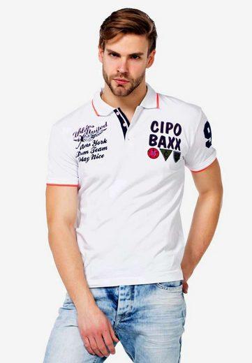 Cipo & Baxx Poloshirt im sportlichen Design