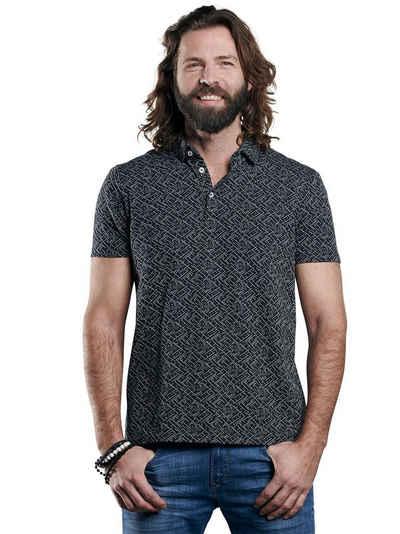 emilio adani T-Shirt »Baumwoll-Poloshirt mit Jacquard-Struktur«