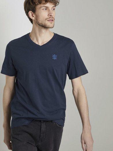 TOM TAILOR T-Shirt »Basic T-Shirt mit V-Ausschnitt«