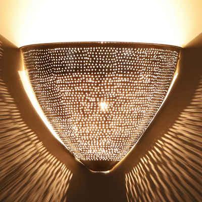 Casa Moro Wandleuchte »Casa Moro, Marokkanische Silber-Wandlampe Damla, AWL910«