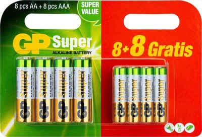 GP Batteries »Mix Blister AA & AAA« Batterie, LR6 (1,5 V, 16 St)