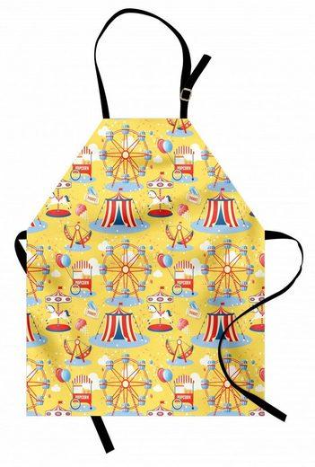 Abakuhaus Kochschürze »Höhenverstellbar Klare Farben ohne verblassen«, Zirkus Vergnügungspark Muster Zelt