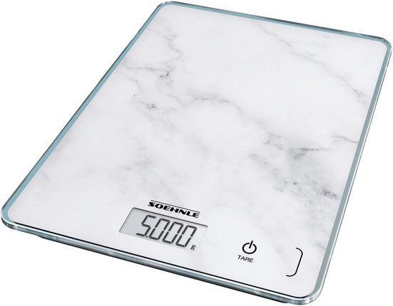 Soehnle Küchenwaage »Page Compact 300 Marble«, Tragkraft 5 kg, 1 g genaue Teilung