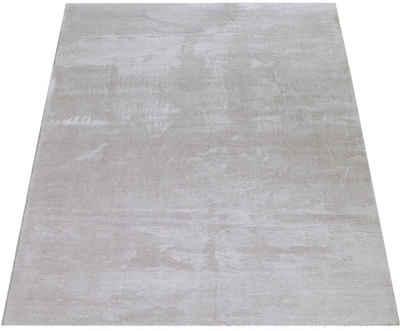 Teppich »Cadiz 630«, Paco Home, rechteckig, Höhe 18 mm, besonders weich, Uni-Farben, waschbar, In- und Outdoor geeignet, Wohnzimmer