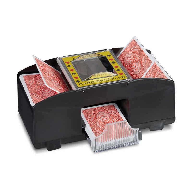 relaxdays Spiel, »Kartenmischmaschine 2 Decks«