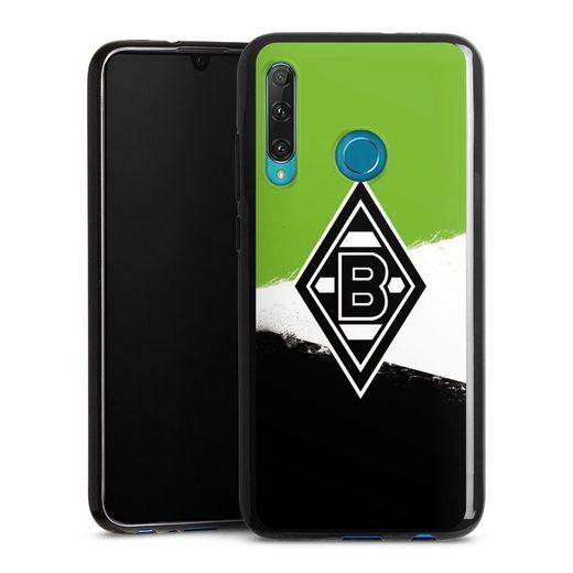 DeinDesign Handyhülle »Borussia Grunge Grün-Weiss-Schwarz« OnePlus 8, Hülle Gladbach Borussia Mönchengladbach Offizielles Lizenzprodukt