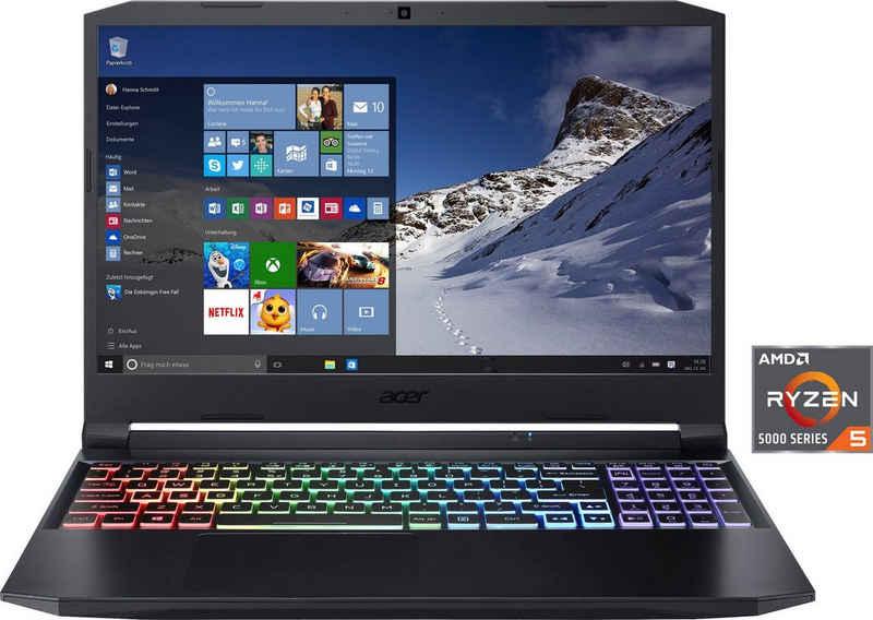 Acer Nitro 5 AN515-45-R4UE Notebook (39,62 cm/15,6 Zoll, AMD Ryzen 5 5600H, GeForce RTX 3060, 512 GB SSD, Kostenloses Upgrade auf Windows 11, sobald verfügbar)