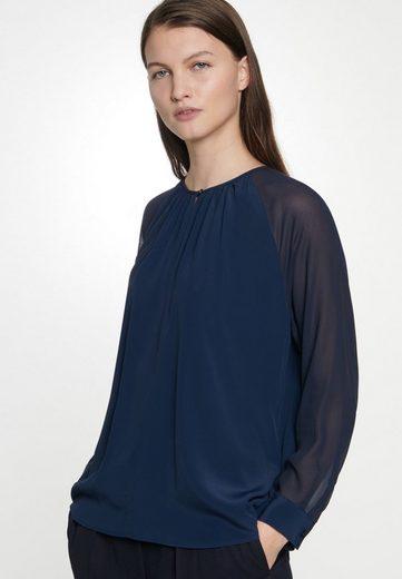 seidensticker Shirtbluse »Schwarze Rose« Langarm Rundhals Uni