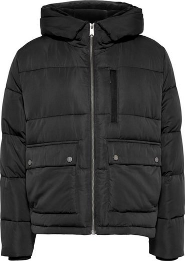 Tommy Jeans Steppjacke »TJW HOODED PUFFA JACKET« mit Kapuze, goßen Taschen & Brusttasche