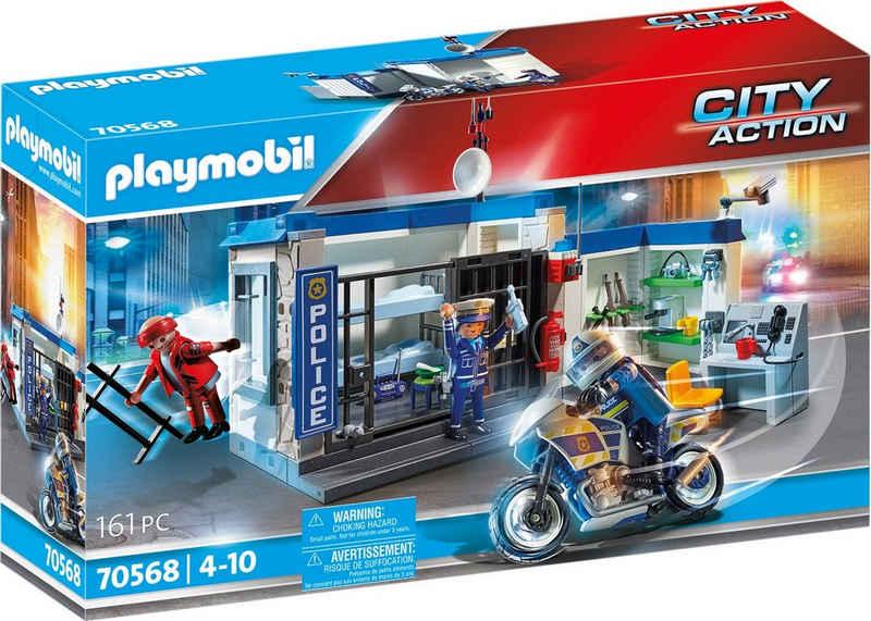 Playmobil® Konstruktions-Spielset »Polizei: Flucht aus dem Gefängnis (70568), City Action«, (161 St), Made in Germany