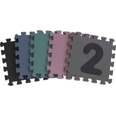 BABY-DAN Puzzlematte »Dusty Grey Playmat, 90 x 90 x 1,4 cm«, Puzzleteile
