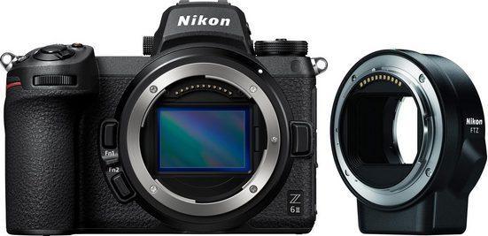 Nikon »Z 6II + FTZ Objektivadapter« Systemkamera-Body (24,5 MP, WLAN (Wi-Fi), Bluetooth)