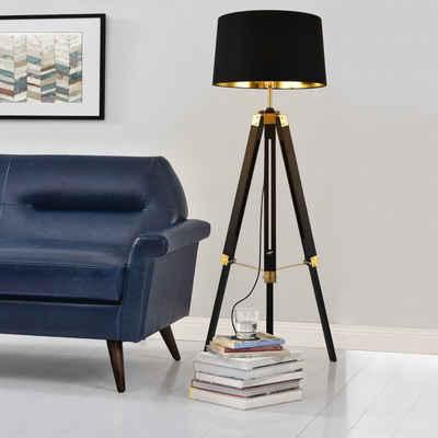 lux.pro Stehlampe, Stylische Stehleuchte »Karlsbad« mit 3-füßigem Metallgestell