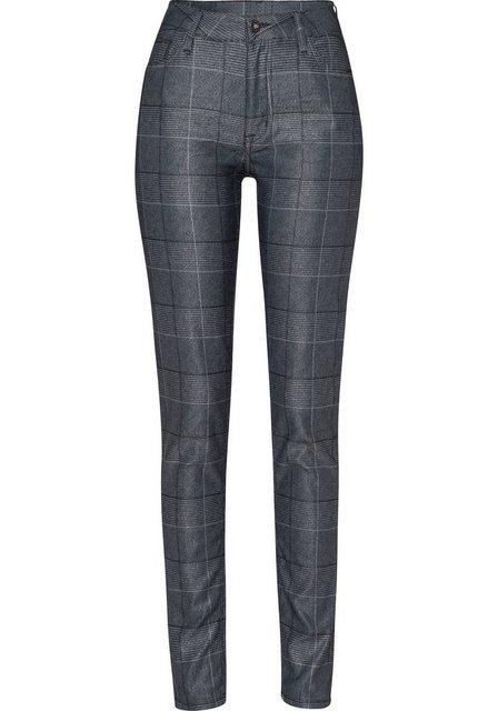 Hosen - BLUE FIRE 5 Pocket Hose »LARA« im Karo Design in leicht glänzender Optik ›  - Onlineshop OTTO