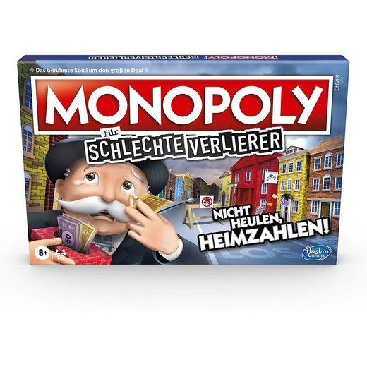 Hasbro Spiel, »Monopoly für schlechte Verlierer Brettspiel ab 8«