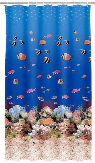 Kleine Wolke Duschvorhang »Aqua« Breite 180 cm, Höhe 200 cm, inkl. Besfestigungsringen