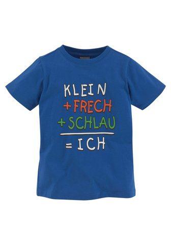 KIDSWORLD Marškinėliai »KLEIN+FRECH+SCHLAU...«