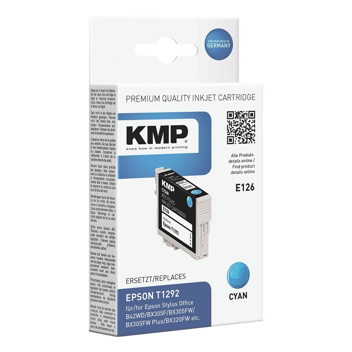KMP Tintenpatrone ersetzt Epson »T1292«