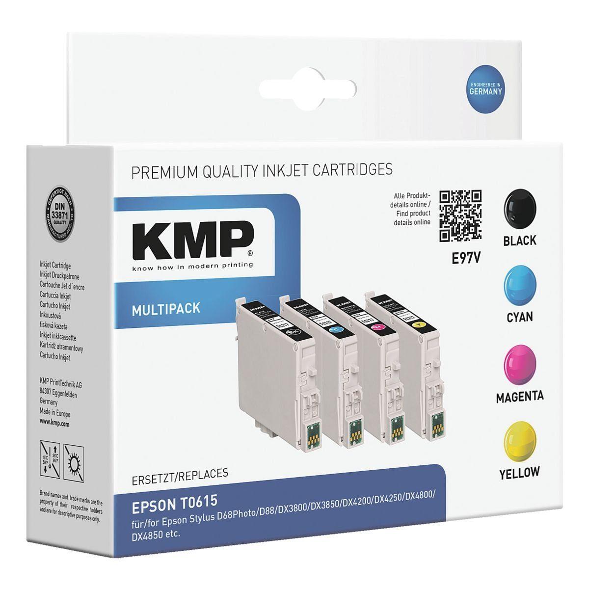 KMP Tintenpatronen-Set ersetzt Epson »T061540«
