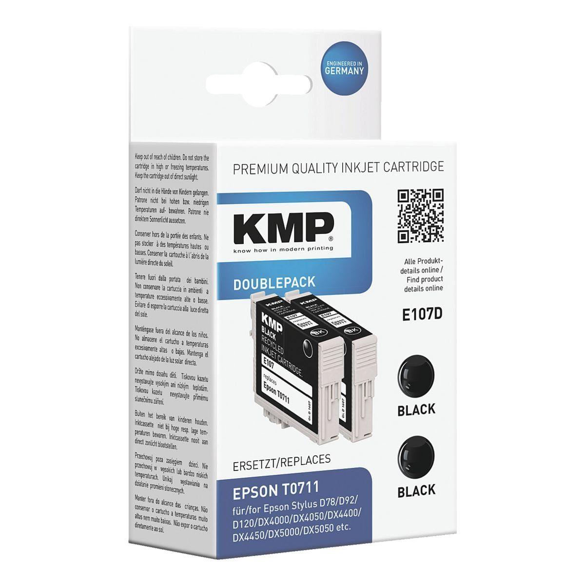 KMP 2er-Pack Tintenpatrone ersetzt Epson »T071140«