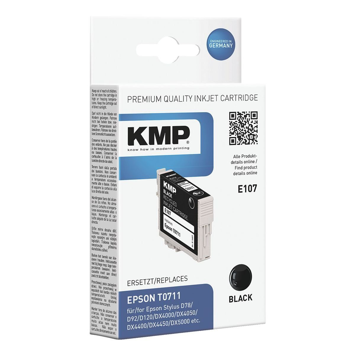 KMP Tintenpatrone ersetzt Epson »T071140«