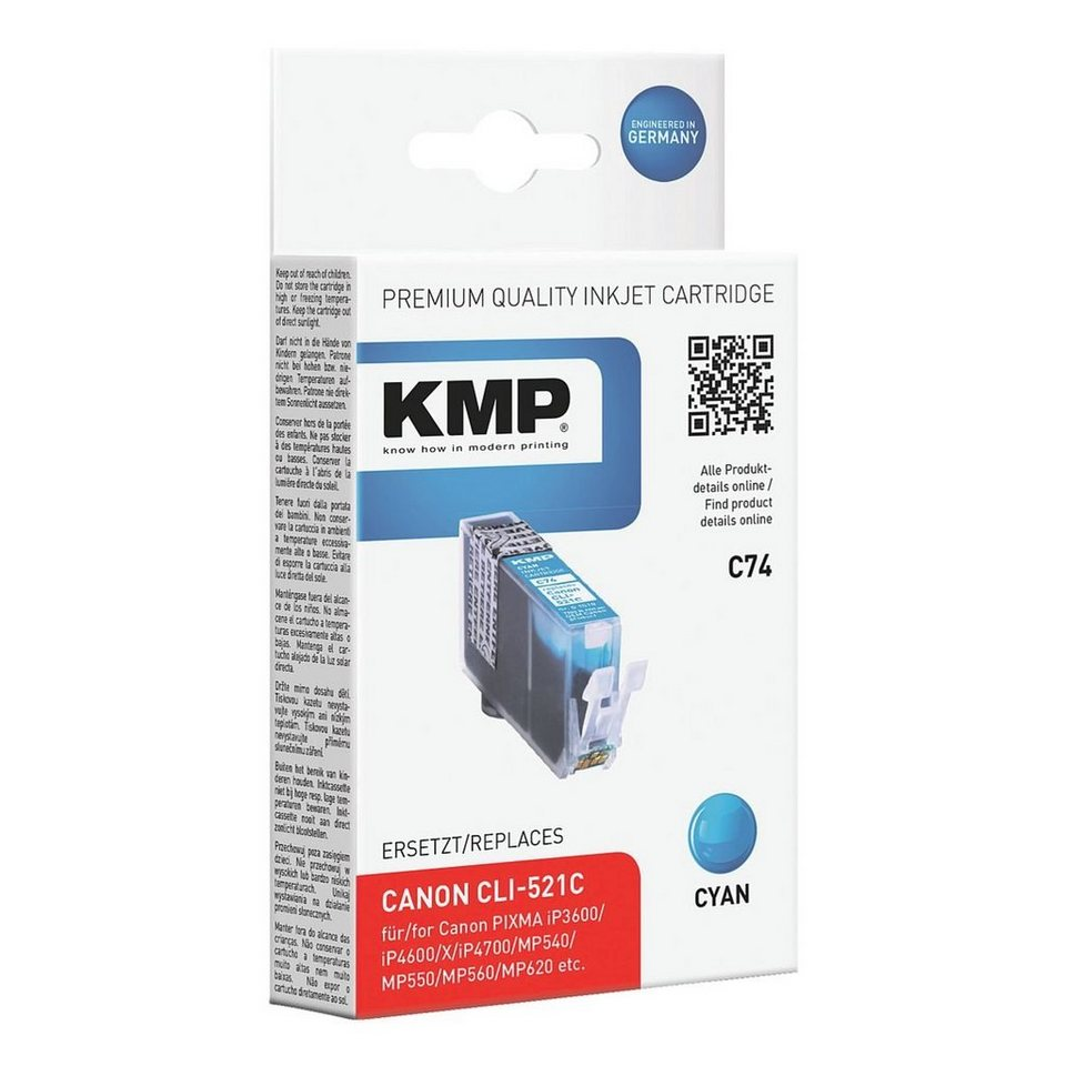 KMP Tintenpatrone ersetzt Canon »CLI-521C«